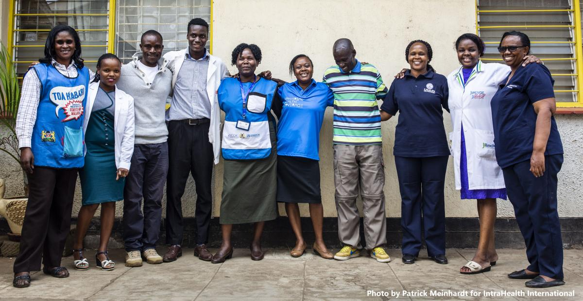 Health worker team in Kenya