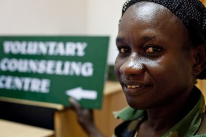 Capt. Harriet Fouzia voluntary counseling and testing (VCT) counsellor and supervisor, at the Juba Military hospital in South Sudan in May 2009. Courtesy IntraHealth International.