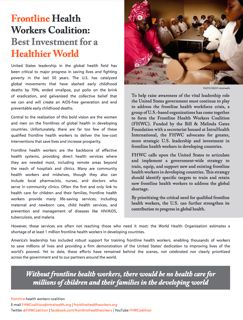 About the Frontline Health Workers Coalition