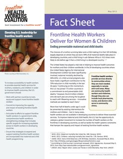 Frontline Health Workers Deliver for Women & Children