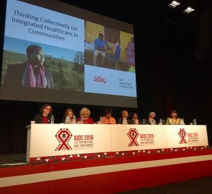 'Thinking Collectively on Integrated Healthcare in Communities' panel at 21st International AIDS Conference (AIDS 2016). Courtesy: Medtronic Foundation.